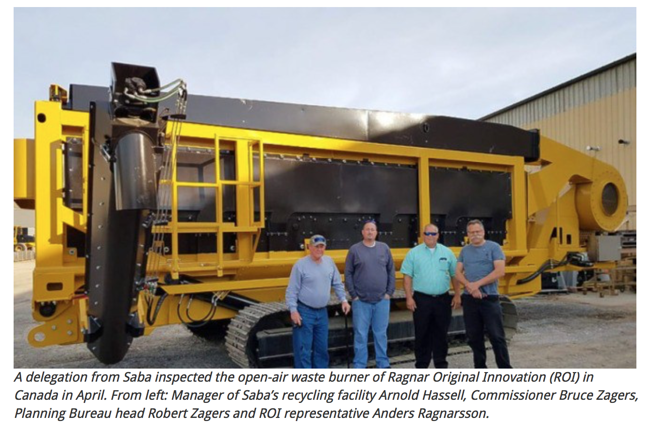 Island of Saba Purchases new Waste Incineration System