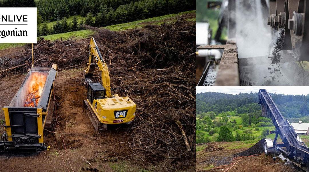 Got burn piles? Oregon winery tries a new approach: Turning wood debris into biochar